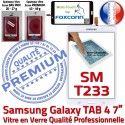 Samsung Galaxy SM-T233 TAB4 B Tactile Assemblée Ecran PREMIUM Qualité inch Blanche LCD Vitre Supérieure Adhésif Prémonté Verre 7