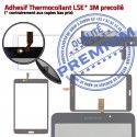 Samsung Galaxy SM-T233 TAB4 B Supérieure LCD PREMIUM 7 Vitre Prémonté Ecran Blanche inch Verre Adhésif Qualité Tactile Assemblée