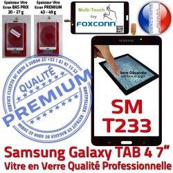 Prémonté Galaxy 7 Noire T233 TAB LCD TAB4 Qualité 4 PREMIUM Samsung Ecran Assemblée SM inch Adhésif N Verre SM-T233 Vitre Supérieure Tactile