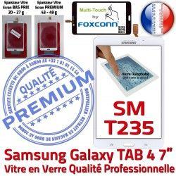 B Assemblée Galaxy SM-T235NZWAXEF Qualité Verre Supérieure NZWAXEF Tactile SM-T235 Samsung Vitre Ecran Blanche TAB4 Prémonté PREMIUM LCD Adhésif
