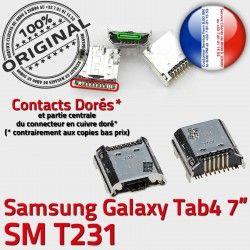Fiche Pins SM-T231 Prise MicroUSB TAB4 Qualité ORIGINAL Samsung charge SLOT Galaxy de USB Tab4 Connector Dock Dorés à Chargeur souder