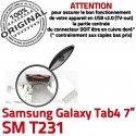 Samsung Galaxy Tab4 SM-T231 USB SLOT à Chargeur Connector Dorés souder Dock ORIGINAL Qualité charge MicroUSB de Pins TAB4 Prise Fiche