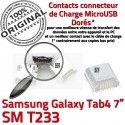 Samsung Galaxy Tab 4 T233 USB Connector Pins 7 souder Prise SM Chargeur TAB à de inch Connecteur charge ORIGINAL Dock Dorés Micro