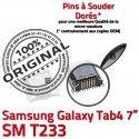 Samsung Galaxy Tab 4 T233 USB inch Dock TAB de ORIGINAL Dorés à charge Prise Chargeur Pins 7 Micro Connector SM souder Connecteur