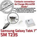 Samsung Galaxy Tab 4 T235 USB Connector Micro Connecteur Pins ORIGINAL souder Dock de Chargeur charge à SM inch Prise Dorés 7 TAB