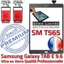 Samsung Galaxy TAB E SM-T565 G Gris Verre Vitre Adhésif 9.6 Limitée Titanium SM PREMIUM TAB-E Ecran Assemblée T565 Grise Série Tactile Qualité