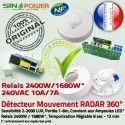 Capteur Automatique SINOPower Mouvements Ampoule Fréquence LED Relais HF de Micro-Ondes Hyper Radar 360° Détecteur Électrique Interrupteur