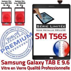 Assemblée Assemblé Noire SM-T565 Noir TAB-E 9.6 T565 SM PREMIUM Metal Ecran Adhésif Samsung Galaxy N Verre Tactile Qualité Vitre Metallic