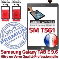 Vitre Samsung T561 SM Titanium PREMIUM Tactile SM-T561 Grise Ecran E G Verre Gris Qualité Série Galaxy Assemblée TAB-E Limitée 9.6 Adhésif TAB