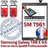 Samsung Galaxy TAB E SM-T561 G Adhésif Tactile T561 Assemblée Série Qualité Gris TAB-E Vitre Ecran SM PREMIUM 9.6 Grise Titanium Limitée Verre